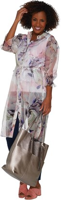 Vince Camuto Side Tie Diffused Bloom Tunic