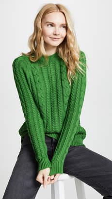 Bop Basics Boxy Cable Knit Sweater