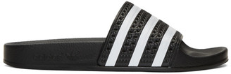 adidas Originals Black Adilette Slide Sandals $30 thestylecure.com
