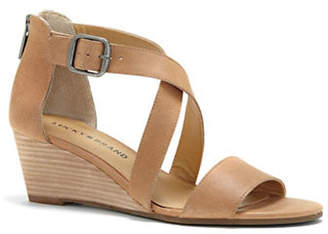 Lucky Brand Jenley Leather Wedge Sandals