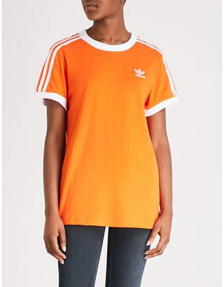 adidas Striped stretch-jersey T-shirt