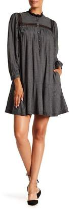 Rebecca Taylor Plaid Lace Trim Dress