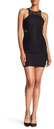 NSR Halter Crochet Lace Mini Dress