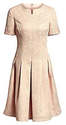 Teri Jon by Rickie Freeman Women's Short Sleeve Fit-&-Flare Dress