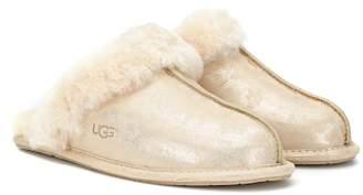 UGG Scuffette II metallic suede slipper