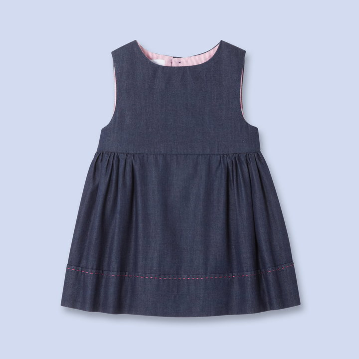 Jacadi Gathered denim dress