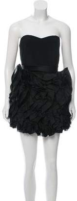 Marchesa Strapless Mini Dress