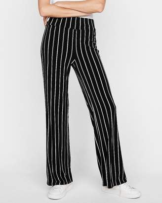 Express High Waisted Striped Wide Leg Pant
