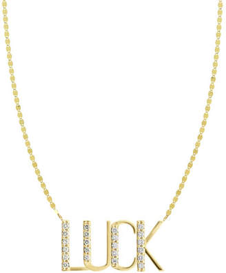 Lana Gold Personalized Four-Letter Pendant Necklace w/ Diamonds