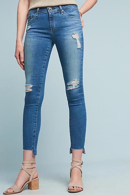 AG JeansAG Middi Mid-Rise Skinny Ankle Jeans