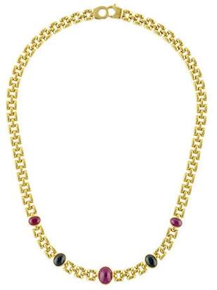 18K Ruby & Sapphire Collar Necklace