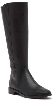 Calvin Klein Finley Hidden Gore Wide Calf Leather Tall Boot