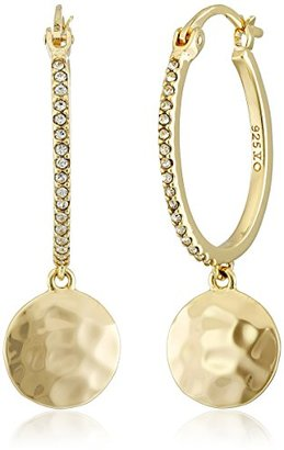 "Judith Jack ""Elegant Evening"" Gold Plated Sterling Silver/Hammered Textured Hoop Earrings $98 thestylecure.com"