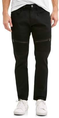 Rocawear Men's Big Slab 5 Pocket Solid Pant Slim Fit with Moto Detail