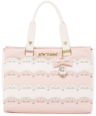 Betsey Johnson Laser Cut Tote $108 thestylecure.com