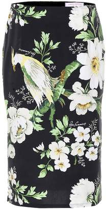 Carolina Herrera Printed stretch-cotton skirt