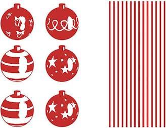 Vinyl Design Christmas Balls Wall Decal, Vinyl Red