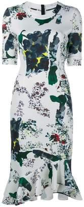 Erdem abstract fruit print dress