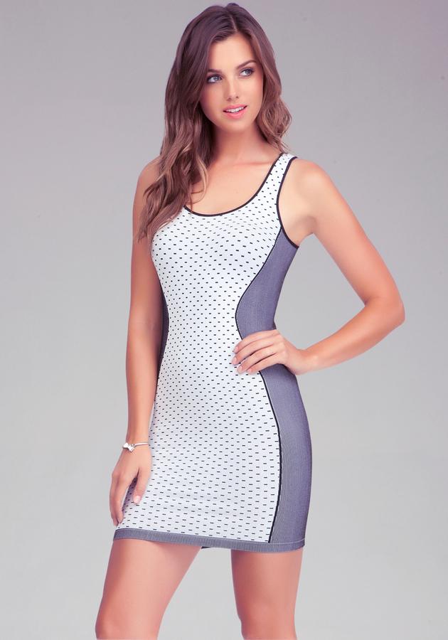 Bebe Side Angle Panel Dress