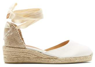f6df91b72ad Castaner Carina 30 Canvas   Jute Espadrille Wedges - Womens - White