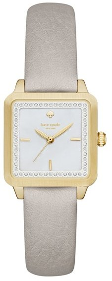 Kate SpadeWomen's Kate Spade New York 'Washington' Square Leather Strap Watch, 25Mm