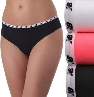 New Balance Women's 3-pack Mainstream Thong Panties NB4030-3