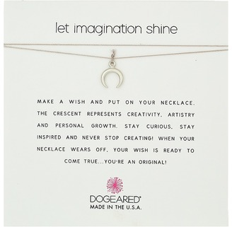 Dogeared - Let Imagination Shine, Crescent Charm On Silk Thread, Necklace Necklace $26 thestylecure.com