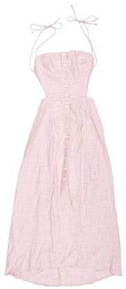 Reformation Gingham Midi Dress