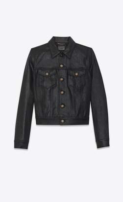 Saint Laurent Coated Denim Jacket