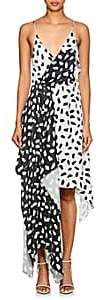Off-White Women's Princess Abstract-Print Satin Dress
