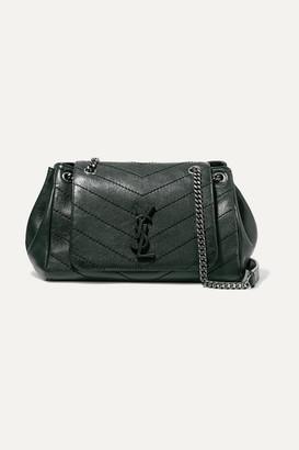 1d4aee27d951 Saint Laurent Nolita Medium Quilted Leather Shoulder Bag - Dark green