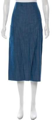 Tibi Denim Midi Skirt w/ Tags