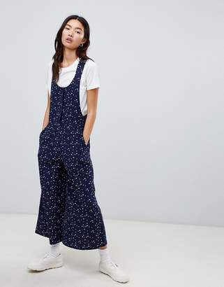 Asos DESIGN cord overall in star print