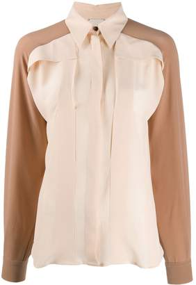 Alysi long-sleeved two-tone shirt
