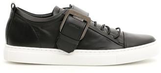 Lanvin Square Buckle Nappa Sneakers