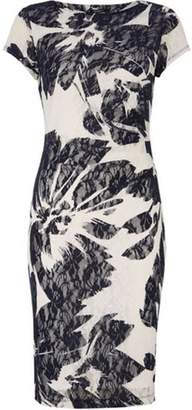 Dorothy Perkins Womens *Roman Originals Navy Floral Print Lace Bodycon Dress
