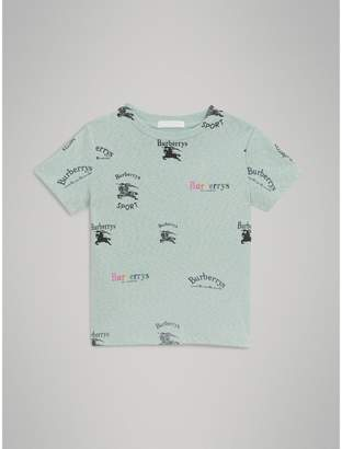 Burberry Archive Logo Print Jersey T-shirt , Size: 6Y