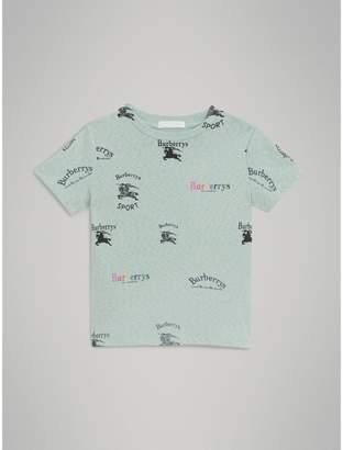 Burberry Childrens Archive Logo Print Jersey T-shirt