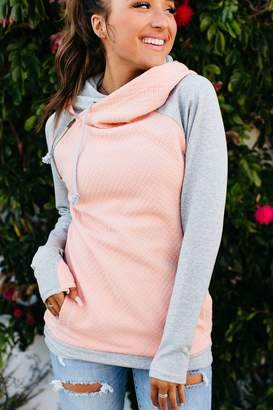 Ampersand Avenue DoubleHood Sweatshirt - Quilted Peach