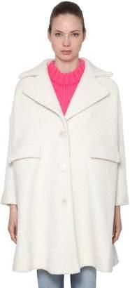 Ganni Fenn Oversized Wool Blend Coat