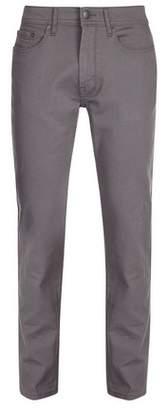Burton Mens Grey Five Pocket Blake Slim Fit Jeans