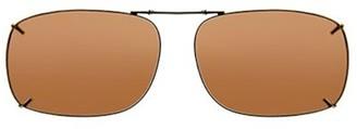 SOLAR SHIELD Solar Shield Unisex Black Polarized Driving SolarShield ClipOn Sunglasses SD03