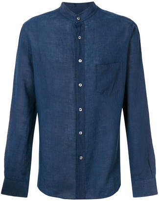 Pierre Balmain collarless pocket shirt