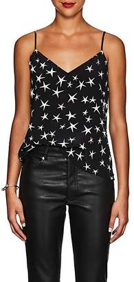 L'Agence Women's Jane Star-Print Silk Tank - Black