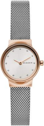 Skagen Freja Crystal Accent Mesh Strap Watch, 26mm