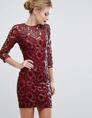 Little Mistress All Over Lace Mini Dress $119 thestylecure.com