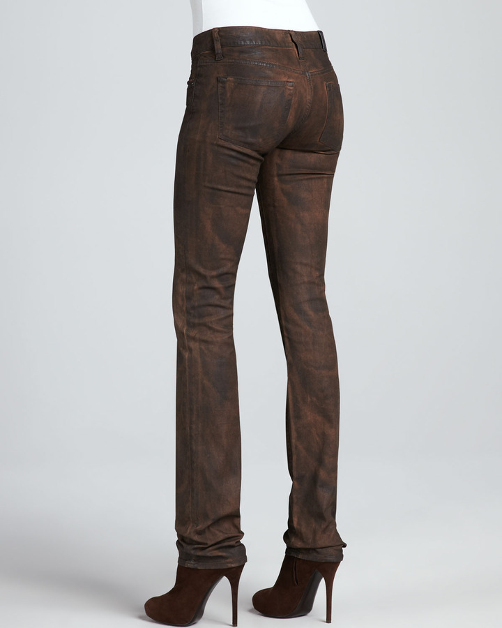 Ralph Lauren Black Label Matchstick Slim Jeans, Sake Brown