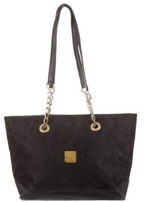 MCM Canvas Chain Tote Bag