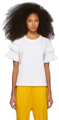 McQ White Babydoll T-Shirt