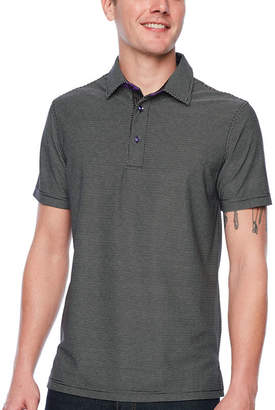 SOCIETY OF THREADS Society Of Threads Short Sleeve Pattern Pique Polo Shirt